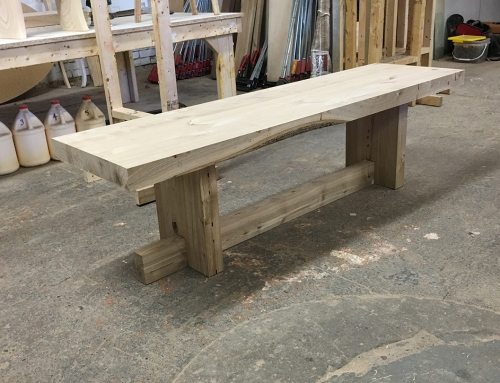 Butcher Block Live Edge Bench
